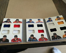 13/14 NATIONAL TREASURES SWEETER BY THE DOZEN NUMBERS OVECHKIN,HALL,KEITH#25/25