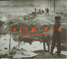 FAITHLESS Mass Destruction w/ RARE SINGLE MIX 2TRX w/ We Come 1 CD single SEALED