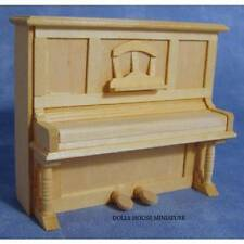 Plain Wood Piano with Opening Lid, Dolls House Miniature Music Room, Instrument