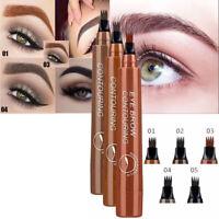 3D Eyebrow Pencil Waterproof 4 Fork Tip Long Lasting Liquid Eyeliner Makeup Tool
