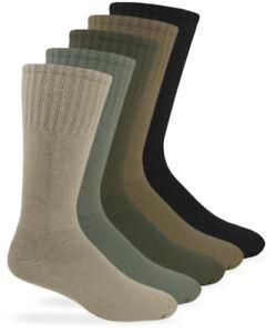 Jefferies Socks Mens Military Uniform Rib Combat Mid Calf Boot Socks 6 Pair Pack