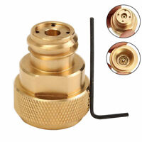 Gold Brass CO2 Adapter Replace Tank Paintball Canister Conversion for Sodastream