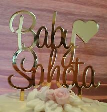 Gold acrylic personalized baby shower/birthday cake topper decorations(any name)