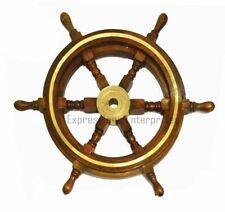 "Ship Wheel Nautical Wall Decor Helm Ships Steering Pirate Captains 18"" Dia"