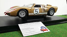 FORD GT 40 MKII LE MANS 1966 # 5 bronze 1/18 UNIVERSAL HOBBIES 3040 voiture mini