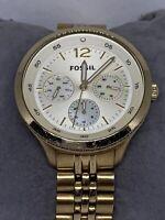 Fossil ES3240 Women's Gold Stainless Steel Analog Dial Quartz Genuine Watch Ee21