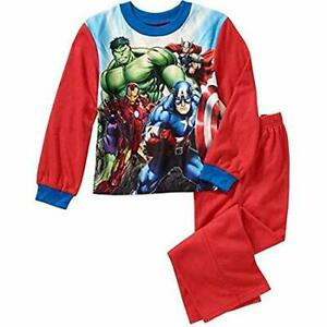 Marvel Mighty Avengers Boy's Flannel Super Hero Pajama Set