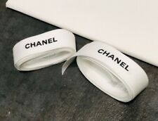 1 Chanel white gift Wrap ribbons 1� Width Approx 36� Inches Or 1 Yard