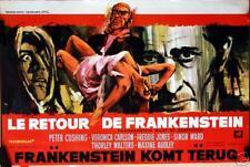 FRANKENSTEIN MUST BE DESTROYED Belgian movie poster HAMMER PETER CUSHING RAY Art