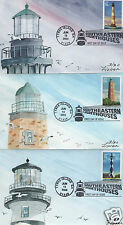 FISHER SOUTHEASTERN LIGHTHOUSES HD HAND DRAWN PAINTED HP FIRST DAY COVER FDC