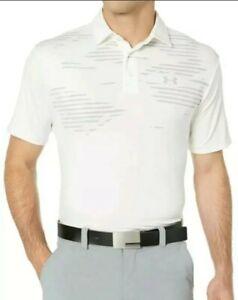 Under Armour Loose HeatGear Men's Polo Shirt  Size Small White