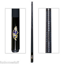 BALTIMORE RAVENS NEW NFL TEAM BILLIARD GAME POOL TABLE CUE STICK with FREE CASE