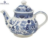 Churchill Earthenware Blue Willow Teapot 1200ml Serveware Kitchen New