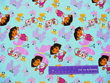 Dora The Explorer Boots Butterfly Butterflies Cotton Fabric BY THE HALF YARD