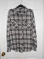 LRG Woven New Mens Multi Plaid Button Up Shirt Large NWT