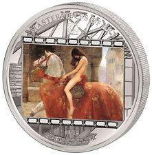 20 $2013 Masterpieces of Art-John Collier-Lady Godiva en estuche - 3 Oz plata