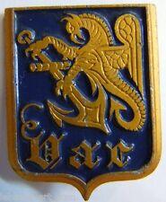 Insigne Marine Pétrolier LE VAR  Aluminium peint Augis ORIGINAL FRENC NAVY BADGE