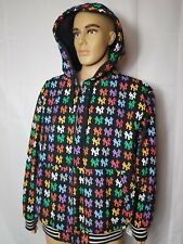 Rare NYY New York Yankees Canvas Jacket All Over Print MLB Multi Color G-III Men