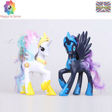New 2 PCS My Little Pony White Princess Celestia LUNA NIGHEMARE MOON Figure Toys
