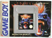 Nintendo Gameboy Primal Rage with Booklet Game Boy - Genuine Nintendo