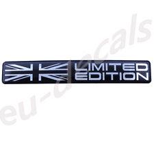"Union Jack flag Limited Edition Black Chrome badge 3D Decal domed  5.1"" 130mm UK"