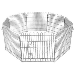 Pet Dog Pen Puppy Foldable Playpen 61 CM Indoor/Outdoor Enclosure 8 Panels CAGE.