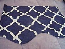 "NEW Blue & Cream FRET VALANCE Curtain 50"" X 15""  Link Design Nautical Decor"