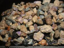 Australian opal rough Lighting Ridge Nice colourful Fossil material 200cts  #1