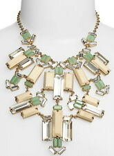 GORGEOUS KATE SPADE NEW YORK CENTRO TILES WOOD CRYSTAL NECKLACE GREEN HUGE!