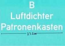 ** STENCIL ** FOR GERMAN WW2 B LUFTDICHTER PATRONENKASTEN WOODEN CARTRIDGE CASE