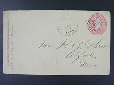 Fairfield Minnesota Rice Co c1864 Target Cancel Postmark U58 Cover Civil War Era