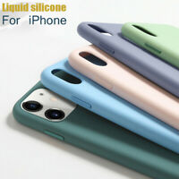Liquid Silicone Soft Case Cover For iPhone 12 Pro Max 11 Pro Max 12 XS X 8 7 SE