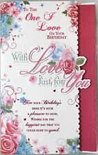 One I Love With Love Birthday Large 7 Pages of verse book - Birthday Card