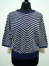 CULT VINTAGE '80 Maglia Donna Cotton Tweed Acrilic Woman Sweater Sz.S - 42