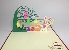 Easter Bunny Pop Up Card. Happy Easter Bunny/Easter Egg Hunt/Easter Day 3D Card