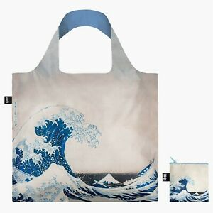 """Hokusai Tote """"The Great Wave"""" 1831 LOQI Large Recyclable Shopping Shoulder Bag"""