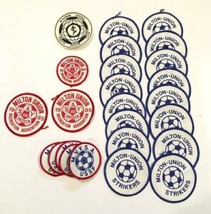 Vintage Old 1980s USA SAY USSF Rec Soccer Patch Lot Milton Union Strikers Ohio