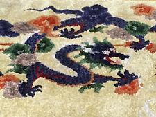 alter chinesischer Drachenteppich China dragon - silk -Seide handgeknüpft 155x93