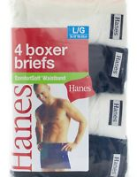 Hanes Men's Comfort soft Waistband Boxer Briefs 4-Pack Assorted colors