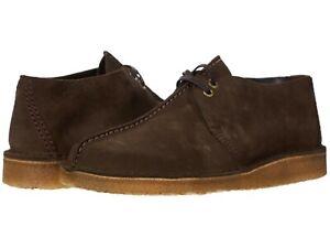 Men's Shoes Clarks Originals DESERT TREK Suede Lace Up Boots 55488 DARK BROWN