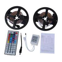 10m 2x5m 3528 SMD 600 LED cadena de luz de tira del RGB + control remoto Y7A5