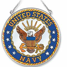 "Amia 4.5"" Beveled Glass Sun Catcher - Navy Insignia"