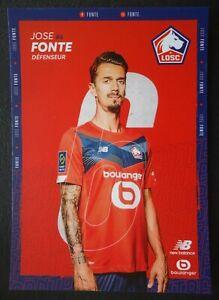76 Autogrammkarte Jose Fonte LOSC Lille Fussball 2021/22