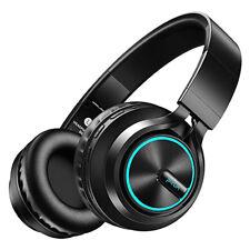 Over the Ear Wireless Bluetooth Headphone Foldable Headset Led Glowing Earphone