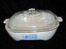 "Vintage Amana Radarange Microwave Browning Skillet Dish w/ Lid by Corning - 9.5"""