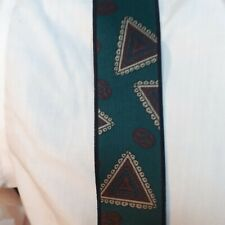 Braces Green Triangle Pattern Suspenders