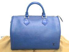 Louis Vuitton Speedy 30 Hand Boston Bag Epi Leather Blue France 10160699500 P