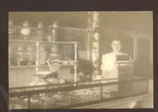 REAL PHOTO CONFECTIONERY CANDY STORE INTERIOR CASH REGISTER POSTCARD COPY