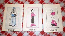 Vintage Popeye Olive Oyl Swee'pea sewing patterns uncut