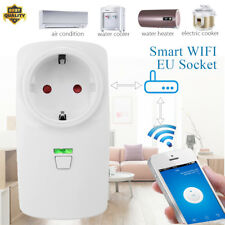 16A Wifi Smart EU Plug Power Socket Outlet APP For Amazon Alexa Echo Google Home